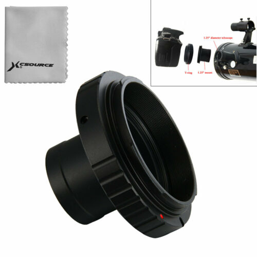 Lens Adapter T-Ring for Canon EOS Camera + 1.25in / 31.7mm T
