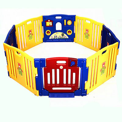 New Baby Playpen Kids 8 Panel Safety Play Center Yard Home Indoor Outdoor Pen