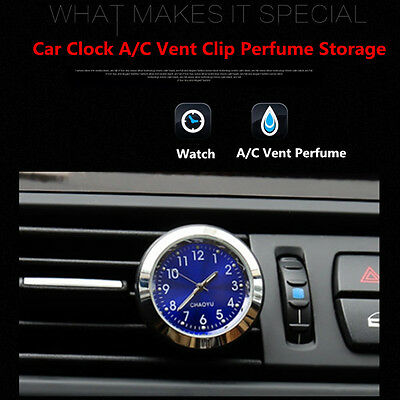 Car Clock Watch AC Vent Clip Perfume Refill Storage Fragrance for All Vehicles