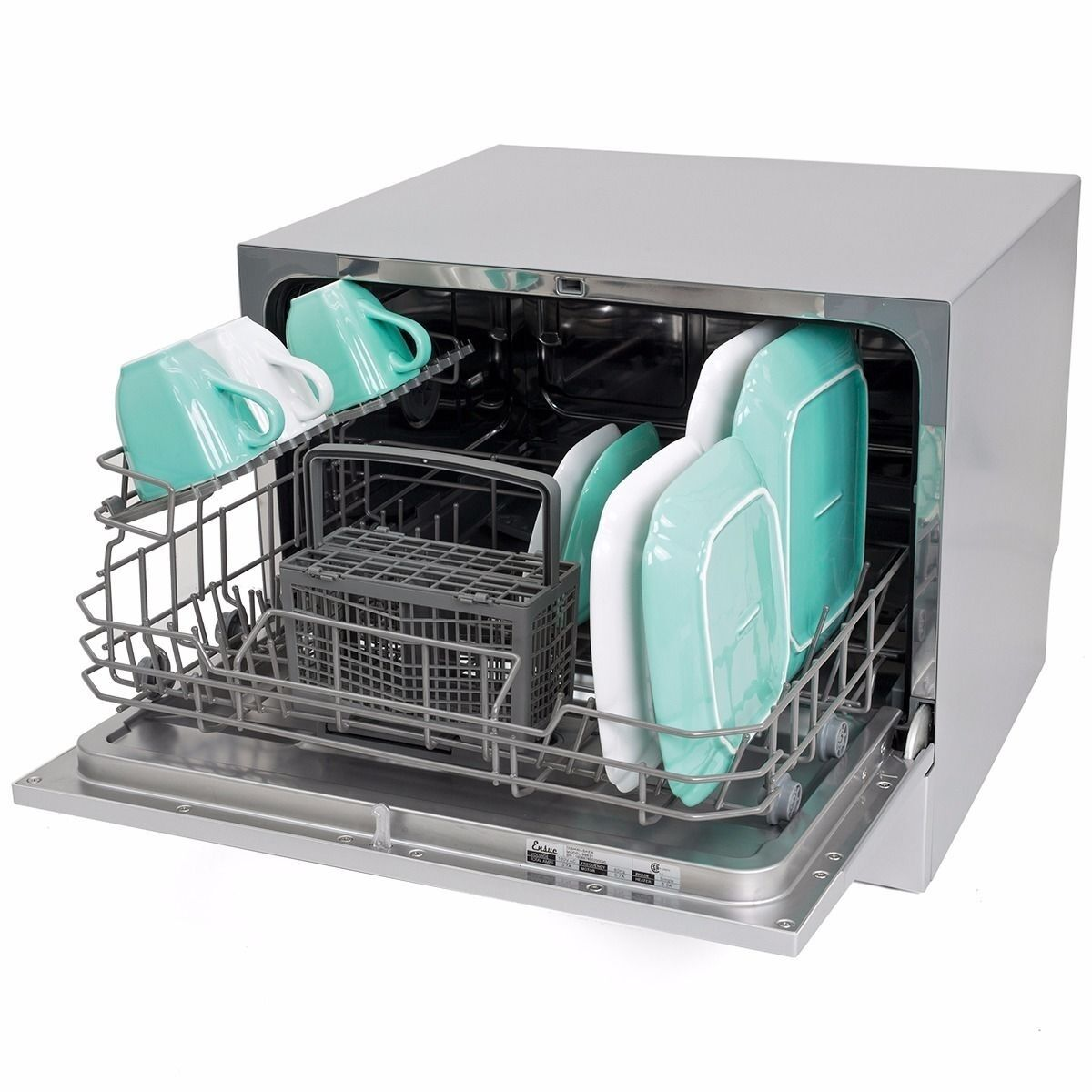 Apartment Dishwasher: Countertop Dishwasher Silver Portable Compact Energy Star