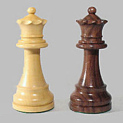 "Two Drueke Chess Pieces Extra Large Double Weighted 4"" Queens Rosewwod Boxwood"