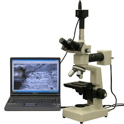 Amscope Me300t-3m 40x-400x Epi Metallurgical Microscope 3mp Digital Camera