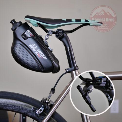 Saddle Bottle Cage Mount / TRI TT Triathlon Time Trial Behind Seat Rail Water