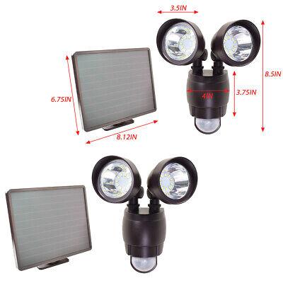2 PK 20 SMD LED Dual Security Detector Solar Spot Light Motion Sensor Floodlight