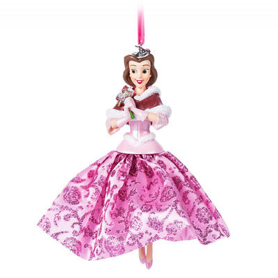 Disney Authentic Beauty & the Beast Princess Belle Pink Dress Christmas Ornament (Disney Belle Pink Dress)