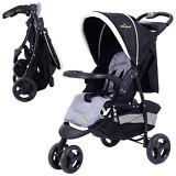 3 Wheel Foldable Baby Kids Travel Stroller Pushchair Buggy Newborn Infant Black