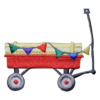 Kids Wagon with Flags Applique Patch (Iron on) for sale  Shipping to India