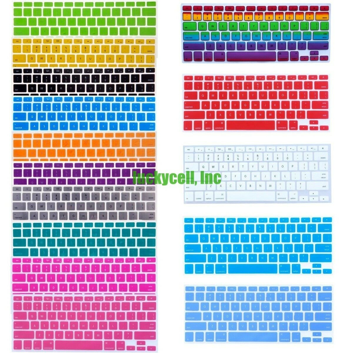 Silicone Colorful Keyboard Skin Cover For MacBook Air Pro Retina 11 13 15 Inch
