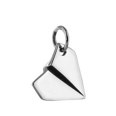 Paper Airplane Charm- 925 Sterling Silver - Plane Pendant Jewelry Craft NEW