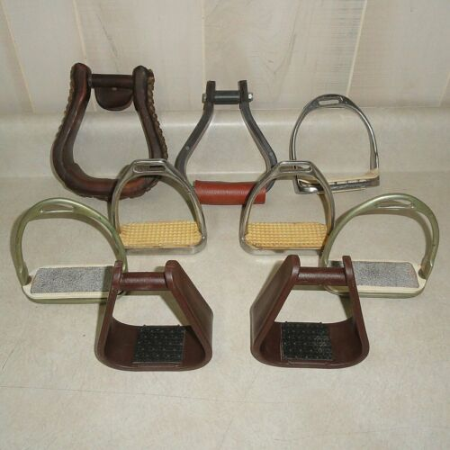 STIRRUP LOT - 3 PAIR and 3 ODD - SEE PHOTOS