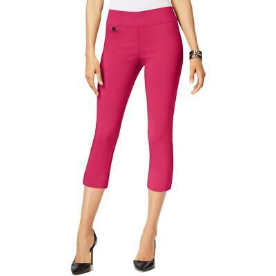 Alfani Womens Pink Comfort Waist Tummy Control Capri Pants Petites 4P BHFO 2984