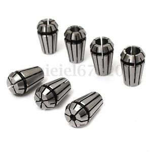7Pcs Full ER11 Precision Spring Collet Set for Toolholder CNC Metric Chuck Tool