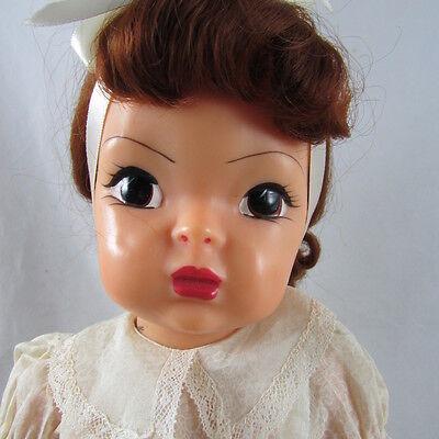 "16"" Terri Lee Doll in Shadow Print Dress Hard Plastic Redhead Vintage 1950s"