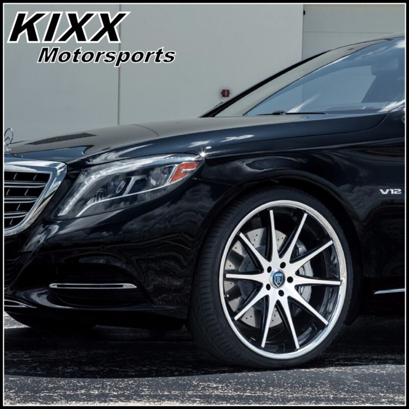 "20"" Rohana Rc10 20x9/10 Black/silver Concave Wheels For Hyundai Genesis Sedan"