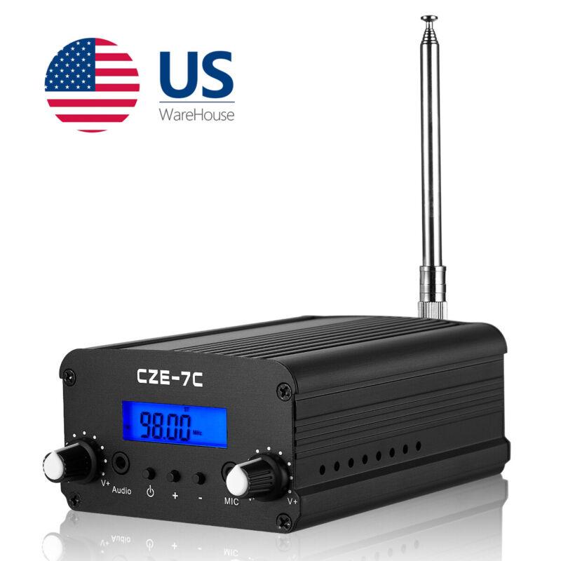 7W Wireless FM Transmitter for Church Long Range Stereo Broadcast Station Radio