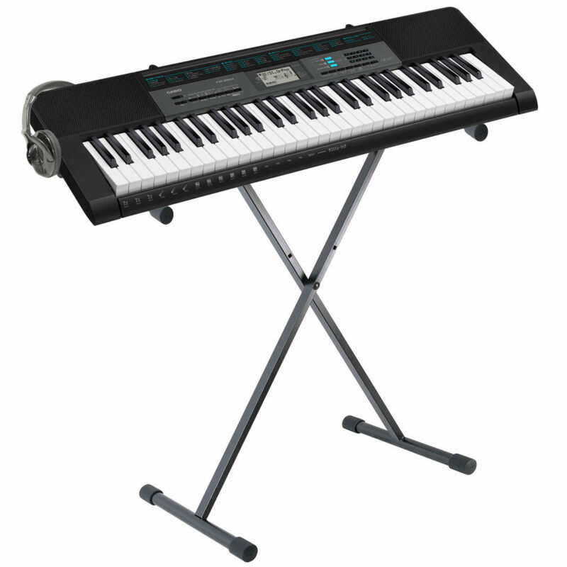 Casio CTK-2550AD, 61 Key Keyboard in Black + Stand + Headphones + Online Lessons