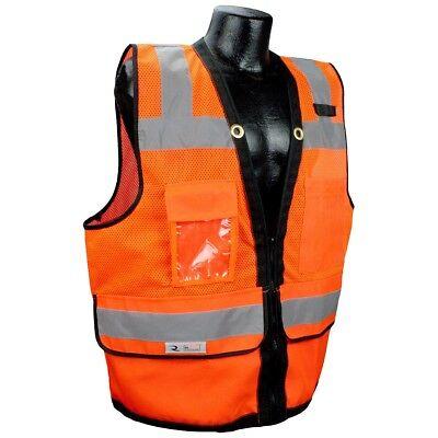 Radians Heavy Duty Class 2 Reflective Surveyor Safety Vest Orange