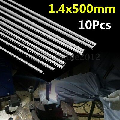 10pcs 1.4x500mm Low Temperature Aluminum Repair Welding Brazing Soldering Rod