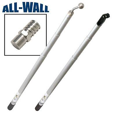 Extendable Drywall Handle Set 3-8 - Nail Spotters Angle Heads Corner Rollers