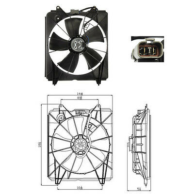 Cooling fan Assembly  (Radiator Fan) Fits: 2007 - 2009 Honda CR-V CRV L4 2.4L comprar usado  Enviando para Brazil