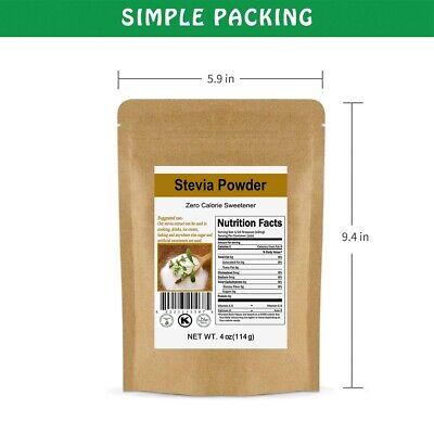 4oz Premium CCnature Stevia Powder Extract Leaf Sweetener 0 Cal Sugar Substitute