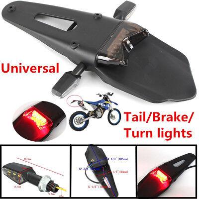 NEW MOTORCYCLE MODIFY REAR FENDER BRAKE TAIL LIGHT WPAIR SIDE 9LED TU