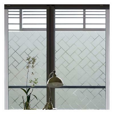 Privacy Frosted Window Film 44.5*200 cm Anti-UV Decorative Reusable Non Adhesive