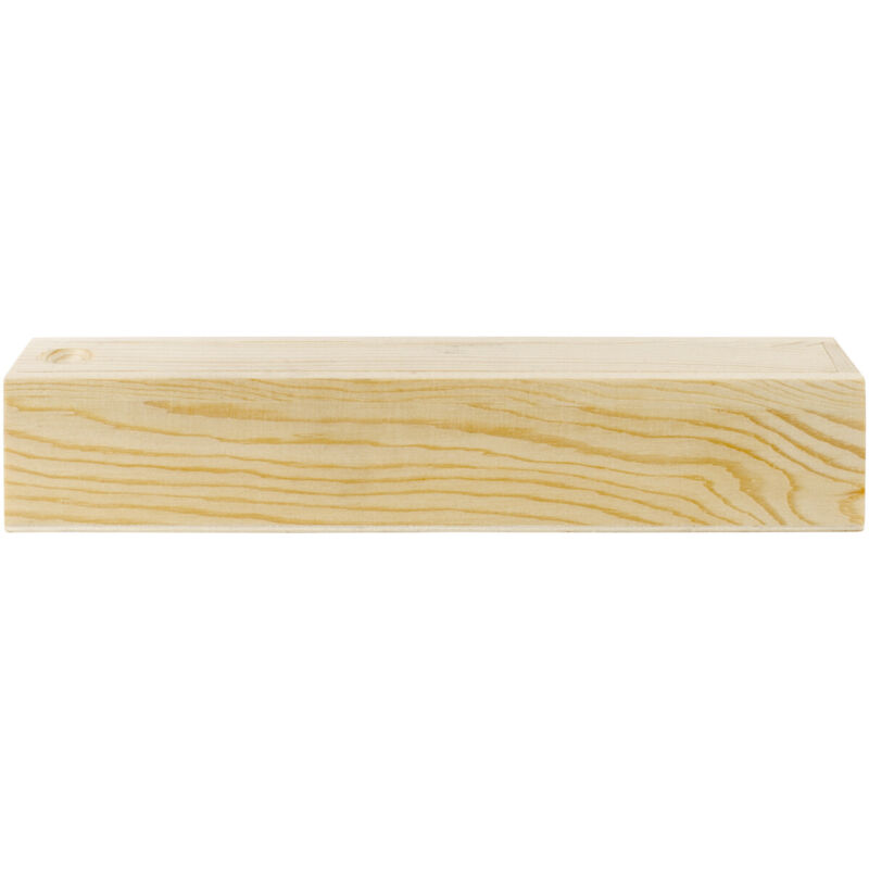 Darice Unfinished Wood Pencil Box with Sliding Lid 8.25 X 1.57 X 1.57 Inches