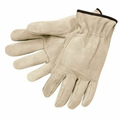 12 Pairs Mcr Safety Split Cowhide Leather Work Gloves Small