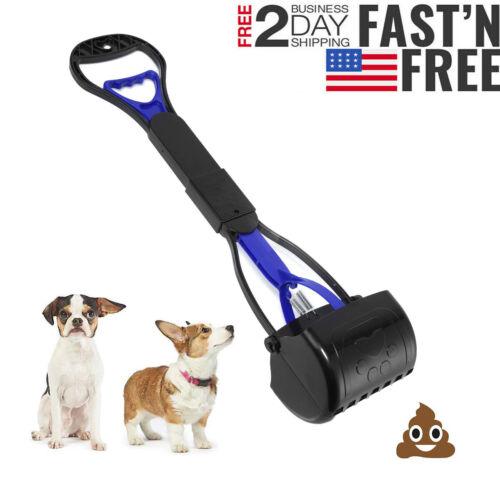 Dog Pooper Scooper Pet Waste Scoop Clean Poop Long Jumbo Handle Pick Up New