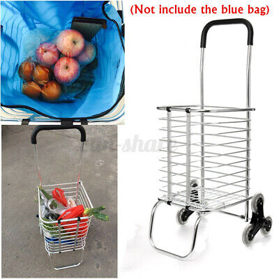 Folding Portable Shopping Cart Jumbo Basket Grocery Laundry Utility Trolley Us
