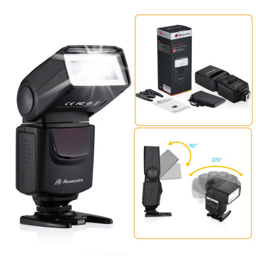 Speedlite Flash For Canon Rebel T6 T6i T5i T4i T3i T3 550D 5D Nikon D5200 D3100