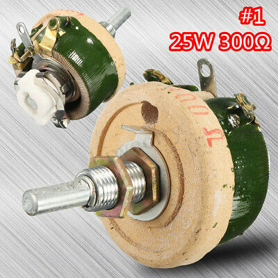 25w 300 Ohm High Power Wirewound Potentiometer Rheostat Variable Resistor Us