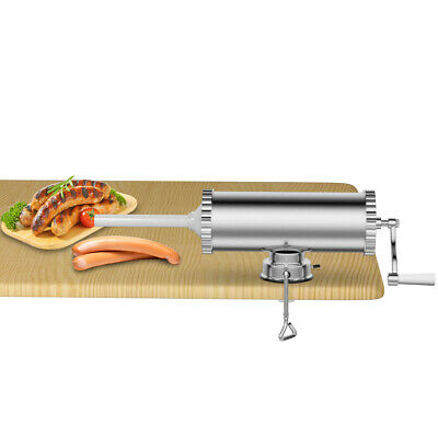 3l5lbs Manual Sausage Stuffer Maker Meat Filler Filling Machine W Suction Base