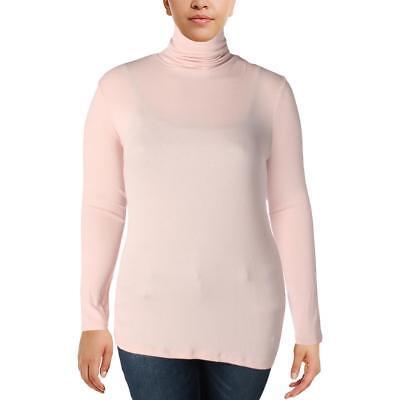 Ralph Lauren Ribbed Jersey (Lauren Ralph Lauren Womens plus Jersey Ribbed Turtleneck Top Shirt  pale rose 1X )