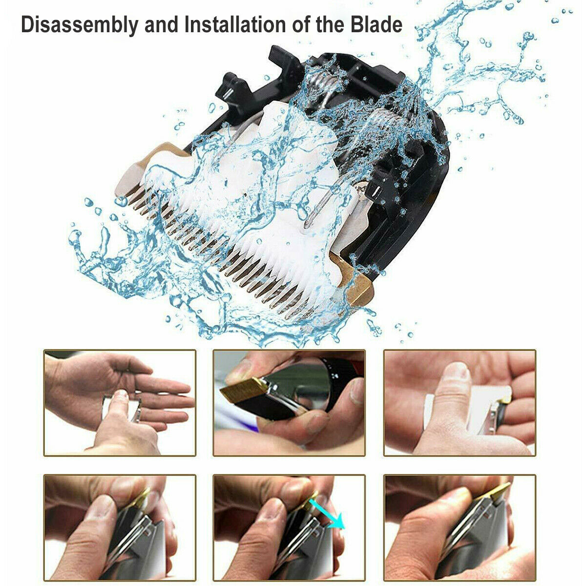 Rechargeable Men Hair Clippers Professional Cordless Trimmers Barber Haircut kit 5