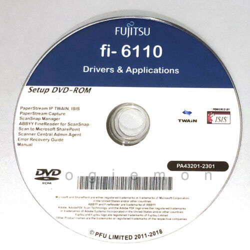 Setup DVD for Fujitsu fi-6110 - Driver Installation APP Software - Windows