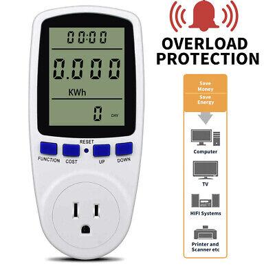 Digital Outlet Power Meter Energy Monitor Volt Watt Voltage Amps Socket Analyzer