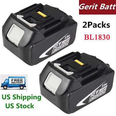 Replacement for Makita 18V Battery 3000mAh Lithium-Ion BL1830 BL1840 BL1850 Tool