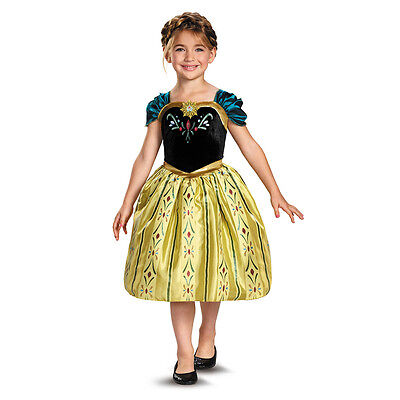 Disney Frozen Anna Coronation Gown Classic Child Toddler Girls Costume Dress - Toddler Anna Costume