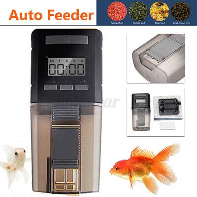 Automatic Fish Food Feeder Auto Digital LCD Feeding Timer for Aquarium Tank