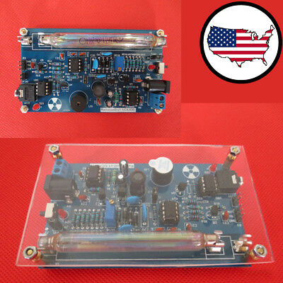 Assembled Geiger Counter Diy Kit Nuclear Radiation Detector Gamma Ray Module New