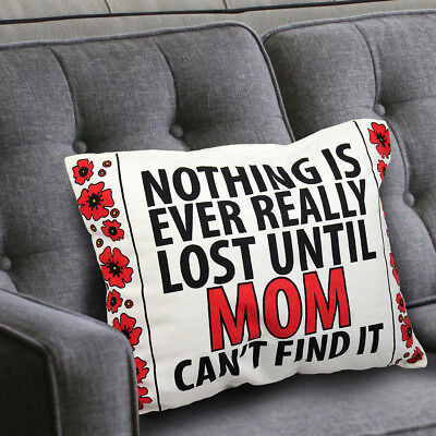 Best Mother's Day Gift for MOM Wife Decorative Throw Pillow & Cotton Cover Funny