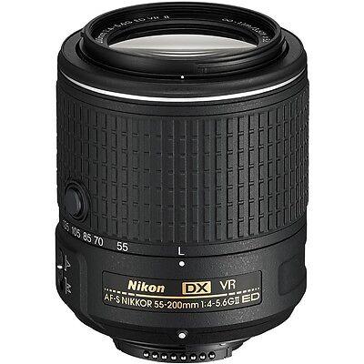 Nikon AF-S DX NIKKOR 55-200mm f/4-5.6G ED VR II 2 Lens  *BRAND NEW* Latest Model