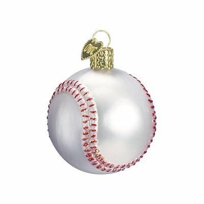 Baseball Blown Glass Christmas Ornament by Old World Christmas  - Baseball Christmas