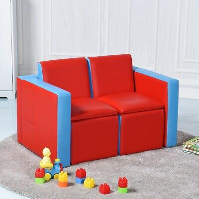Multi-functional Children Kids Sofa Couch Table Chair Set Home Room Furniture