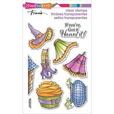 New Stampendous WITCHY LEGS Clear Stamps Halloween Cauldron Witch Hat Cupcake   - Witch Hat Cupcakes