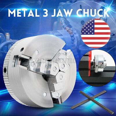 Metal 3 Jaw Lathe Chuck M12 45mm X 20mm Self Centering Hardened Lock Rods