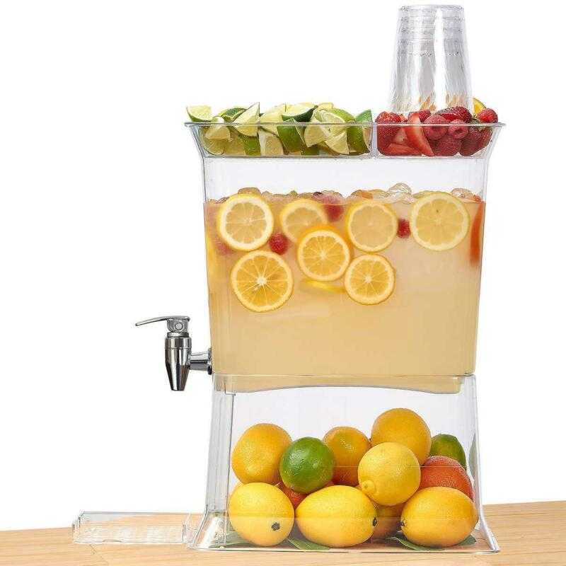 3 Gallon Clear Beverage Dispenser Party Top with Fold Down D