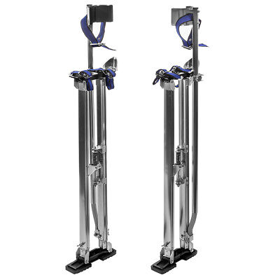 36 - 48 Adjustable Aluminum Drywall Stilts Painting Painter Taping Silver